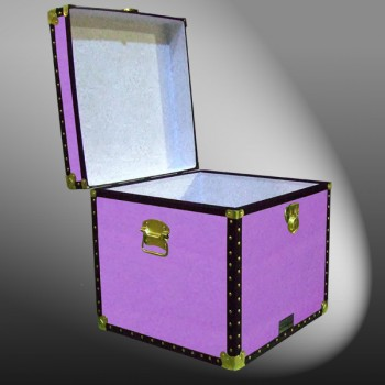 20-154 WOOD WASH PURPLE Cube Storage Trunk with ABS Trim