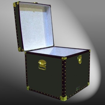 20-090 R OLIVE Cube Storage Trunk with ABS Trim