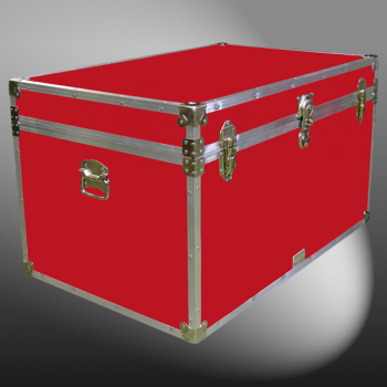 03-122 RE RED King Storage Trunk with Alloy Trim