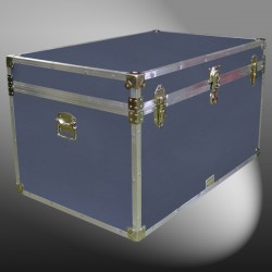 03-164.5 E PREMIER LEATHERGRAIN GREY King Storage Trunk with Alloy Trim