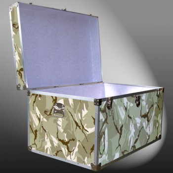 03-173 DSE DESERT STORM CAMO King Storage Trunk with Alloy Trim
