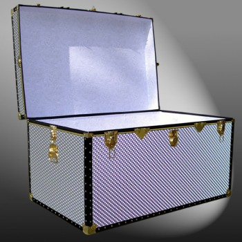 03-219 EMB EMBOSSED King Storage Trunk with ABS Trim