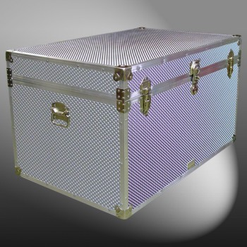 03-220 EMBE EMBOSSED King Storage Trunk with Alloy Trim