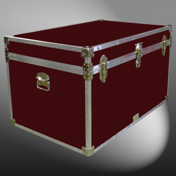 03-123 RE MAROON King Storage Trunk with Alloy Trim