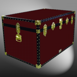 03-117 R MAROON King Storage Trunk with ABS Trim