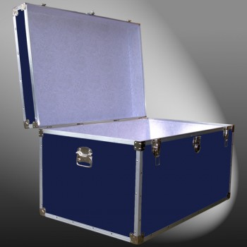 03-124 RE NAVY King Storage Trunk with Alloy Trim