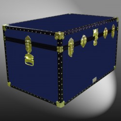 03-118 R NAVY King Storage Trunk with ABS Trim