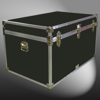 03-121 RE OLIVE King Storage Trunk with Alloy Trim