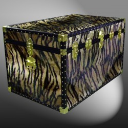 03-214 TI FAUX TIGER King Storage Trunk with ABS Trim