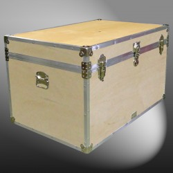 03-111 WE WOOD King Storage Trunk with Alloy Trim