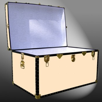 03-206 CL CHAMPAGNE LEATHERETTEKing Storage Trunk with ABS Trim
