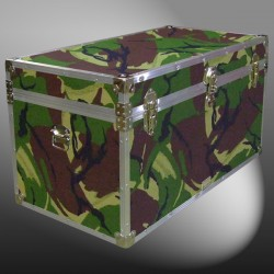 05-155 JCE JUNGLE CAMO 36 Deep Storage Trunk with Alloy Trim