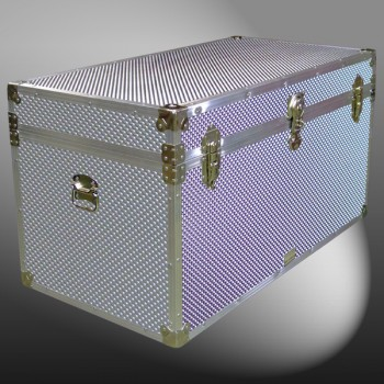 05-206 EMBE EMBOSSED 36 Deep Storage Trunk with Alloy Trim