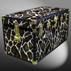 05-198 G FAUX GIRAFFE 36 Deep Storage Trunk with ABS Trim