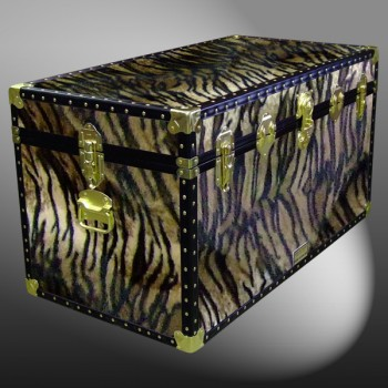05-200 TI FAUX TIGER 36 Deep Storage Trunk with ABS Trim
