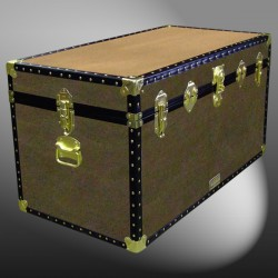 05-160 WOOD WASH BROWN 36 Deep Storage Trunk with ABS Trim