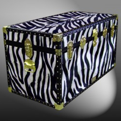 05-194 ZEB FAUX ZEBRA 36 Deep Storage Trunk with ABS Trim