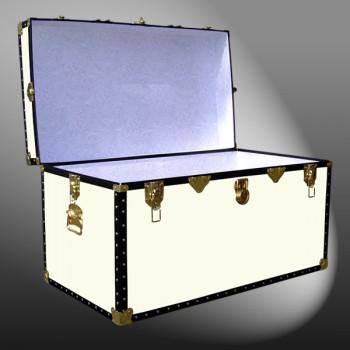 04-170 WOOD WASH CREAM 38 Deep Storage Trunk with ABS Trim