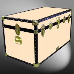 04-194 CL CHAMPAGNE LEATHERETTE 38 Deep Storage Trunk with ABS Trim