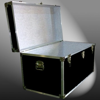 04-113 RE BLACK 38 Deep Storage Trunk with Alloy Trim