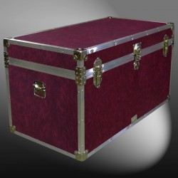 05-132 E PREMIER LEATHERGRAIN WINE 36 Deep Storage Trunk with Alloy Trim