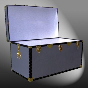 05-121 PREMIER LEATHERGRAIN GREY 36 Deep Storage Trunk with ABS Trim