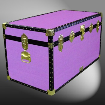04-166 WOOD WASH PURPLE 38 Deep Storage Trunk with ABS Trim