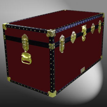 04-105 R MAROON 38 Deep Storage Trunk with ABS Trim