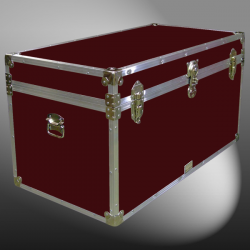 04-111 RE MAROON 38 Deep Storage Trunk with Alloy Trim