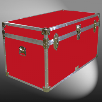 04-110 RE RED 38 Deep Storage Trunk with Alloy Trim