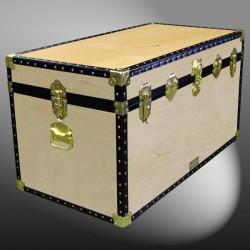 04-098 W WOOD 38 Deep Storage Trunk with ABS Trim