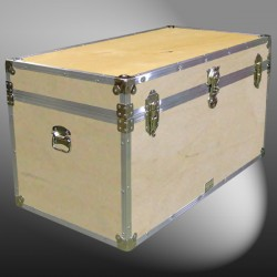 04-099 WE WOOD 38 Deep Storage Trunk with Alloy Trim