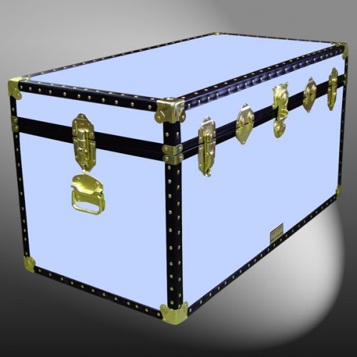 04 164 WOOD WASH BLUE 38 Deep Storage Trunk With ABS Trim
