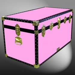 04-168 WOOD WASH PINK 38 Deep Storage Trunk with ABS Trim