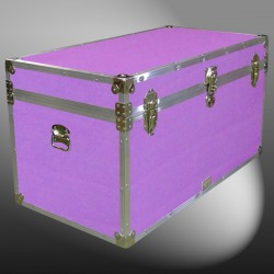 04-167 E WOOD WASH PURPLE 38 Deep Storage Trunk with Alloy Trim