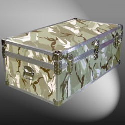 06-149 DSE DESERT STORM CAMO 36 Cabin Storage Trunk with Alloy Trim