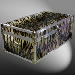 06-191 TIE FAUX TIGER 36 Cabin Storage Trunk with Alloy Trim