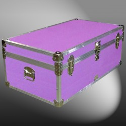 06-155 E WOOD WASH PURPLE 36 Cabin Storage Trunk with Alloy Trim