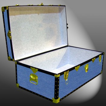 06-142 FD FADED DENIM 36 Cabin Storage Trunk with ABS Trim