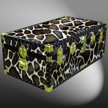 06-188 G FAUX GIRAFFE 36 Cabin Storage Trunk with ABS Trim