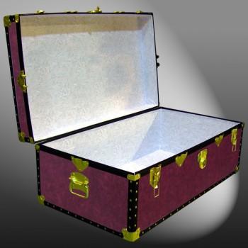 06-121 PREMIER LEATHERGRAIN WINE 36 Cabin Storage Trunk with ABS Trim