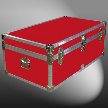 06-091 RE RED 36 Cabin Storage Trunk with Alloy Trim