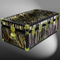 06-190 TI FAUX TIGER 36 Cabin Storage Trunk with ABS Trim
