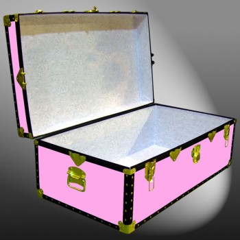 06-156 WOOD WASH PINK 36 Cabin Storage Trunk with ABS Trim