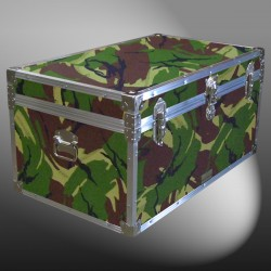 07-144 JCE JUNGLE CAMO 33 Deep Storage Trunk with Alloy Trim