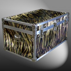 07-190 TIE FAUX TIGER 33 Deep Storage Trunk with Alloy Trim