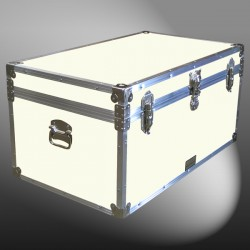 07-158 E WOOD WASH CREAM 33 Deep Storage Trunk with Alloy Trim
