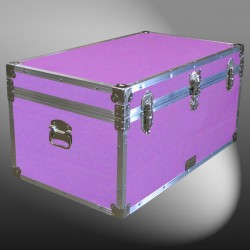07-154 E WOOD WASH PURPLE 33 Deep Storage Trunk with Alloy Trim