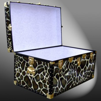 07-187 G FAUX GIRAFFE 33 Deep Storage Trunk with ABS Trim
