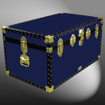 07-086 R NAVY 33 Deep Storage Trunk with ABS Trim